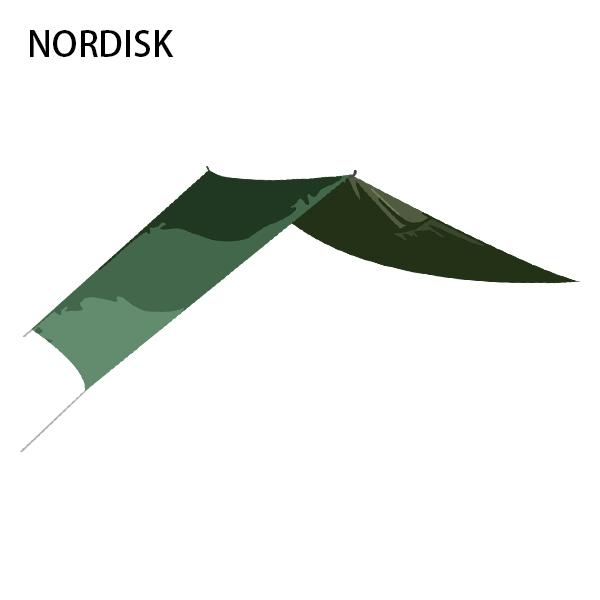 【赤字売切り価格】[全品送料無料]ノルディスク NORDISK タープ ヴォス 14 SI 117007 フォレストグリーン Voss 14 SI Forest Green - incl. guy-ropes キャンプ 雨よけ 日よけ アウトドア アウトレット