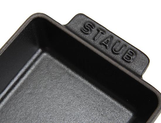 [全品]ストウブ Staub ミニレクタンギュラーディッシュレクタンギュラー Mini Rectangular Dish Rectangular 15x11 ブラック 1301423 ディッシュプレート 新生活