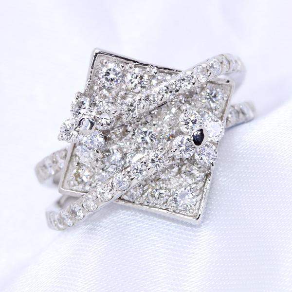 【10%OFFクーポン対象&P2倍】F/VS ダイヤモンド 1.30カラット リング/指輪 K18 PG WG 18金 (※プラチナ対応可) 瞬くダイヤの凄み! /白・透明(ホワイト)/受注生産品・新品/届30/送料無料 ギフト