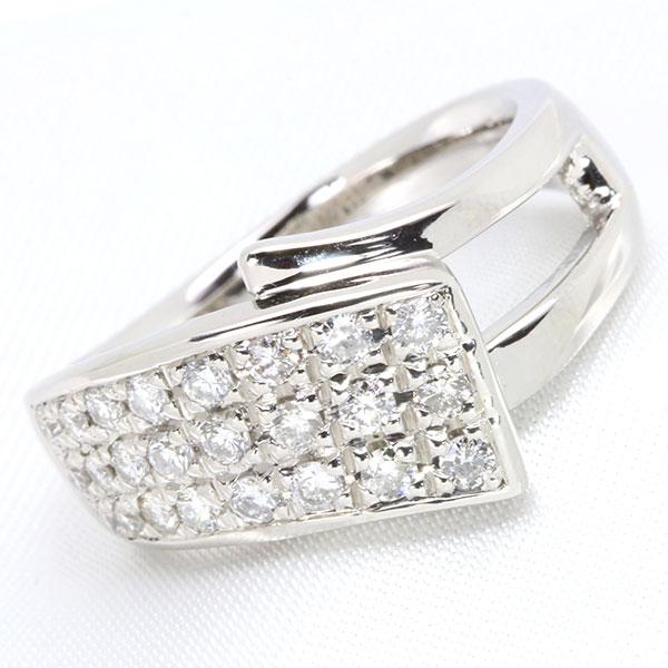 【クーポンで15%OFF&P2倍】パヴェが描く美麗なライン ダイヤモンド 0.50カラット リング/指輪 K18 PG WG 18金 (※プラチナ対応可) 重量にこだわる方へ /白・透明(ホワイト)/受注生産品・新品/届30/送料無料 ギフト