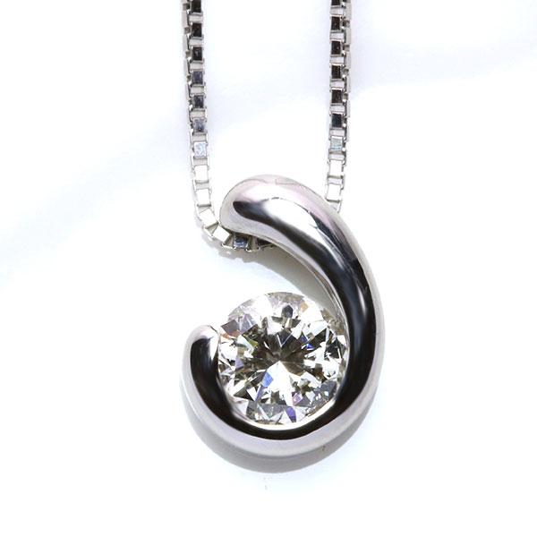 大粒の存在感! ダイヤモンド 0.470カラット プラチナ PT900/PT850 ネックレス 美しきプチ /白・透明(ホワイト)/アウトレット・新品/届10/送料無料 ギフト