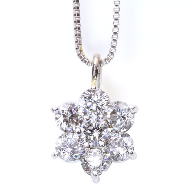 ダイヤモンド 0.50カラット ネックレス 18金ホワイトゴールド K18WG ぎゅっと凝縮した上品質 プチ /白・透明(ホワイト)/アウトレット・新品/届10/ギフト プレゼント/送料無料 ギフト/1点もの