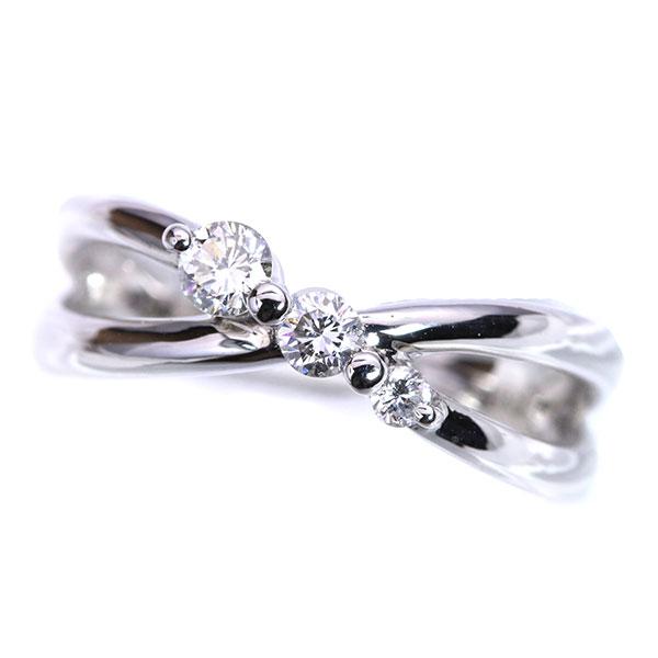 トリロジー・3stone ダイヤモンド 0.20カラット リング/指輪 K18 PG WG 18金(※プラチナ対応可) 定番 /白・透明(ホワイト)/受注生産品・新品/届30/送料無料 ギフト