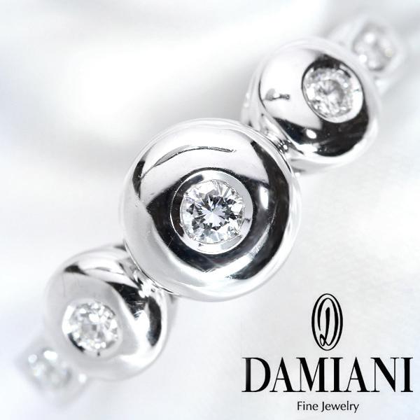 【クーポンで最大30%OFF!】DAMIANI ブランド・VSレベル ダイヤモンド リング/指輪 18金ホワイトゴールド K18WG /白・透明(ホワイト)/【中古】ブランドBrand/届5/送料無料 ギフト/1点もの