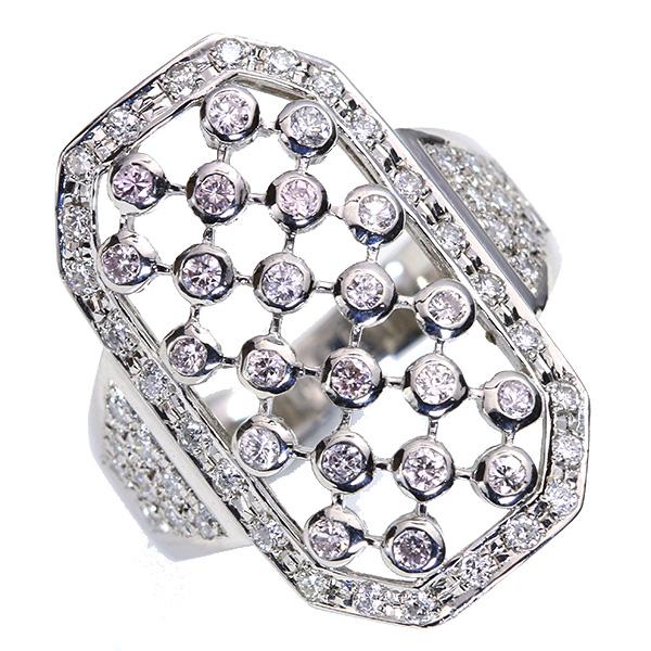 【クーポンで15%OFF&P2倍】ダイヤモンド 0.650カラット 格子模様の大ぶりデザイン リング/指輪 プラチナ PT900 /白・透明(ホワイト)/アウトレット・新品/届10/送料無料 ギフト