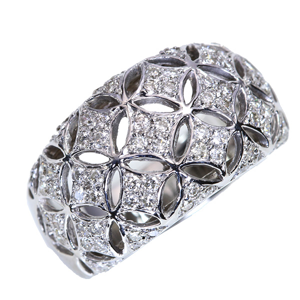 【クーポンで15%OFF&P2倍】ドーム状のリッチプラチナ仕様 ダイヤモンド 0.880カラット リング/指輪 プラチナ PT900 /白・透明(ホワイト)/【中古】/届5/送料無料 ギフト