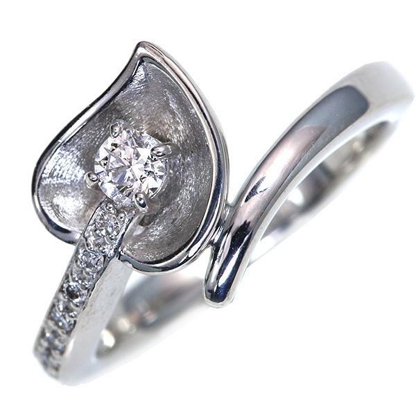 【クーポンで15%OFF&P2倍】カラーの花のよう ダイヤモンド 0.150カラット リング 18金ホワイトゴールド K18WG 上質ダイヤ /白・透明(ホワイト)/アウトレット・新品/届10/送料無料 ギフト