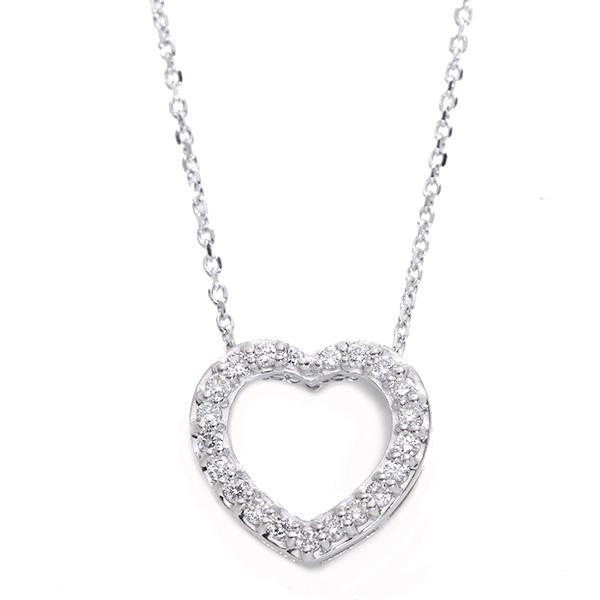 【10%OFFクーポン対象&P2倍】ダイヤモンド 0.150カラット ネックレス 18金ホワイトゴールド K18WG /白・透明(ホワイト)/アウトレット・新品/届10/送料無料 ギフト/1点もの