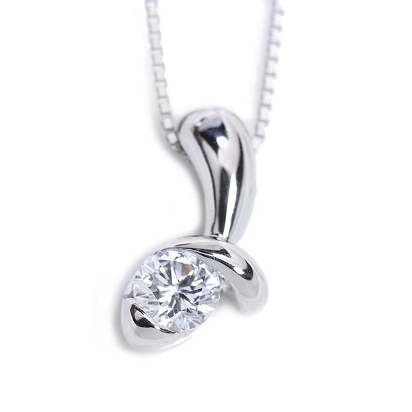 【10%OFFクーポン対象&P2倍】VSレベルの透明度 ダイヤモンド 0.403カラット ネックレス プラチナ PT900/PT850 肉厚デザイン /白・透明(ホワイト)/アウトレット・新品/届10/送料無料 ギフト/1点もの
