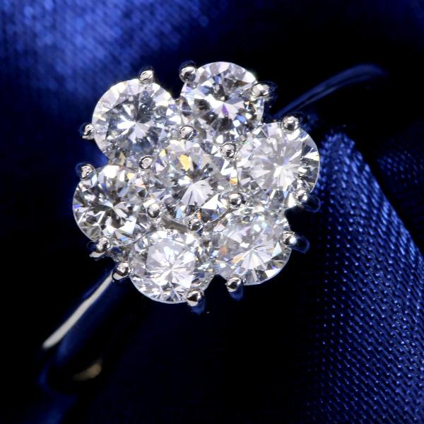 【10%OFFクーポン対象&P2倍】眩しいほどの煌き!VS級 ダイヤモンド 1.040カラット リング/指輪 プラチナ PT900 フラワーデザイン /白・透明(ホワイト)/アウトレット・新品/届10/送料無料 ギフト/1点もの
