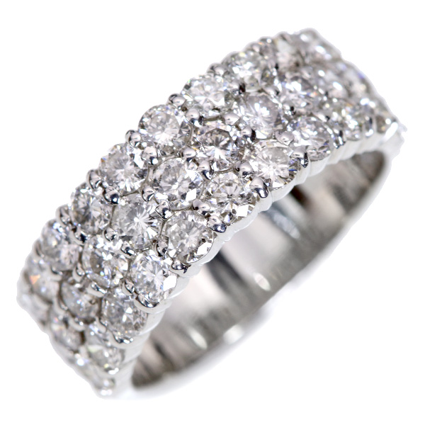 【10%OFFクーポン対象&P2倍】たっぷり上質 ダイヤモンド 2.0カラット リング/指輪 プラチナ PT900 /白・透明(ホワイト)/【中古】/届5/ギフト/1点もの