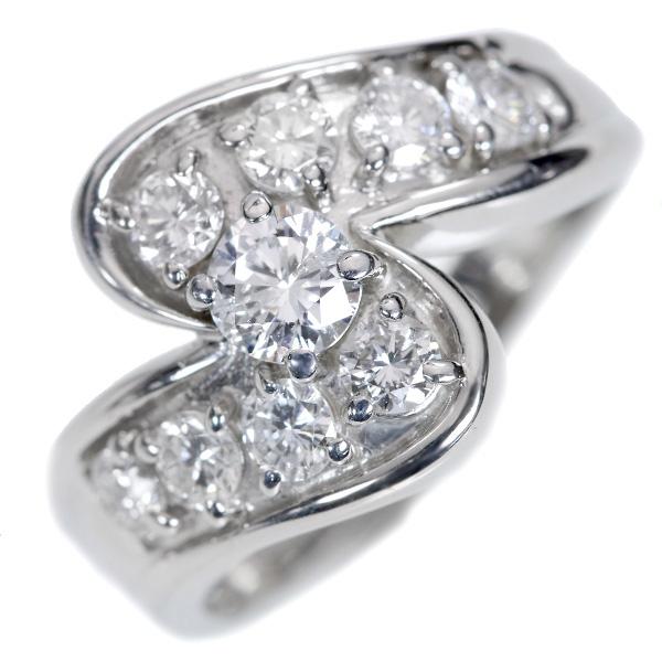 【10%OFFクーポン対象&P2倍】憧れ1カラット ダイヤモンド 1.0カラット リング/指輪 プラチナ PT900 /白・透明(ホワイト)/【中古】/届5/ギフト/1点もの