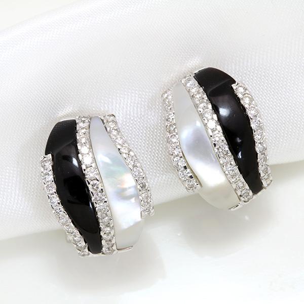 【クーポンで15%OFF&P2倍】ダイヤモンド 0.80カラット クリップ式ピアスイヤリング 18金ホワイトゴールド K18WG モノトーンのコントラストが美しい /白・透明(ホワイト)/アウトレット・新品/届10/ ギフト