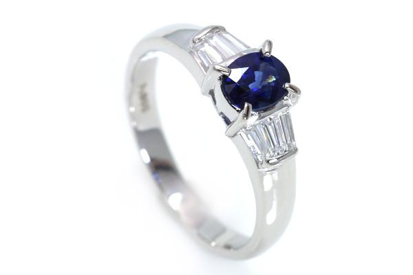 ■P10倍■サファイヤ(サファイア)0.620カラットリング/指輪PT900美しい青・上質ダイヤ/青(ブルー)/【】/届5/ラックジュエルluckjewel/