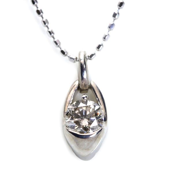 【クーポンで最大30%OFF!】一粒 ダイヤモンド 0.30カラット ネックレス 18金ホワイトゴールド K18WG プチ /白・透明(ホワイト)/アウトレット・新品/届10/ギフト/1点もの