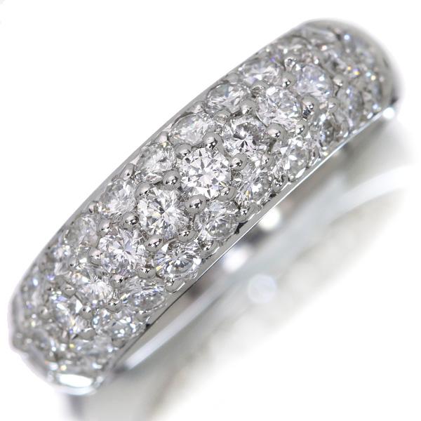 【クーポンで最大30%OFF!】びっしりパヴェ ダイヤモンド 1.20カラット リング/指輪 プラチナ PT900 透明度と照り・無色の上質ダイヤ /白・透明(ホワイト)/アウトレット・新品/届10/ギフト/1点もの