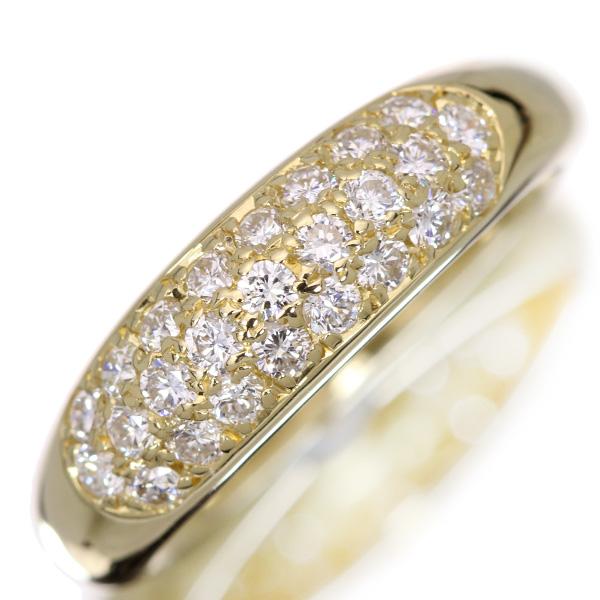 美しいパヴェ ダイヤモンド 0.560カラット リング/指輪 18金イエローゴールド K18 普段使いに最適・上質ダイヤ /白・透明(ホワイト)/アウトレット・新品/届10/ ギフト