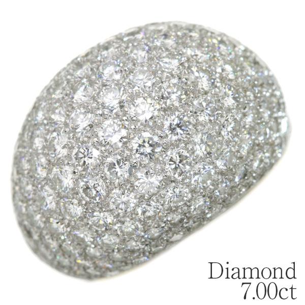 VVSレベル! ダイヤモンド リング/指輪 18金イエローゴールド K18 びっしりパヴェ・隙間なくセット 引っかかりなし /白・透明(ホワイト)/アウトレット・新品/届10/