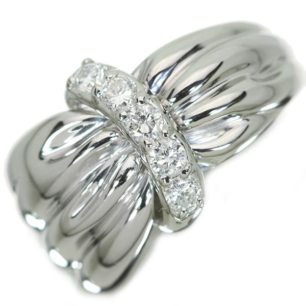 【クーポンで15%OFF&P2倍】たっぷりのプラチナ素材と ダイヤモンド 0.250カラット リング/指輪 プラチナ900 PT900 肉厚幅広デザイン /白・透明(ホワイト)/【中古】/届5/ラックジュエル luckjewel/