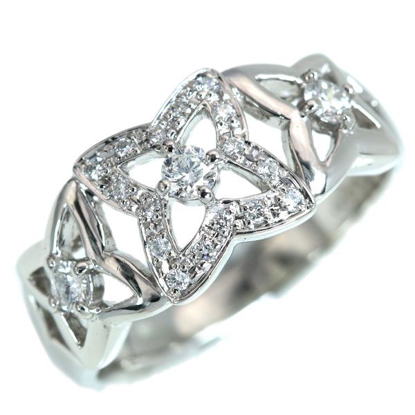 【クーポンで15%OFF&P2倍】ダイヤモンド リング/指輪 0.31カラット プラチナ900 PT900 程よいボリューム デザイン性豊か /白・透明(ホワイト)/【中古】/届5/ラックジュエル luckjewel/