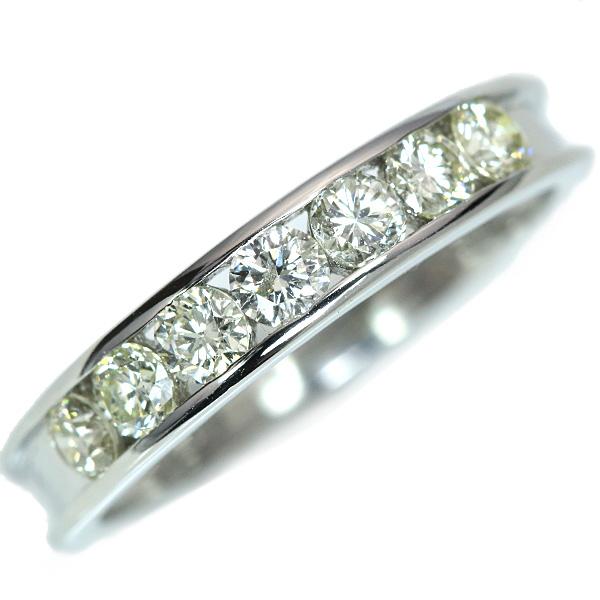 【10%OFFクーポン対象&P2倍】ダイヤモンド リング/指輪 0.5カラット プラチナ900 PT900 照りの豊かなダイヤ ハーフエタニティ 重ねつけ /白・透明(ホワイト)/アウトレット・新品/届10/1点もの
