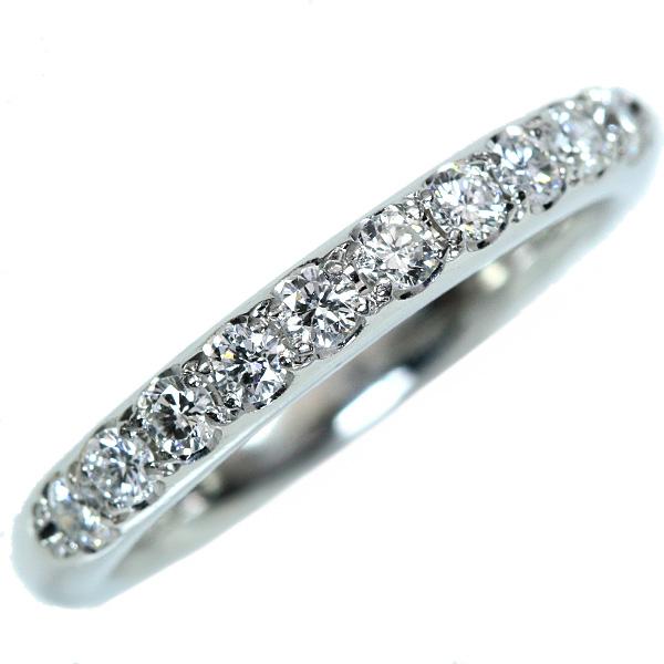 【10%OFFクーポン対象&P2倍】ダイヤモンド リング/指輪 0.37カラット プラチナ900 PT900 一文字 ハーフエタニティ 重ねつけにも /白・透明(ホワイト)/アウトレット・新品/届10/1点もの
