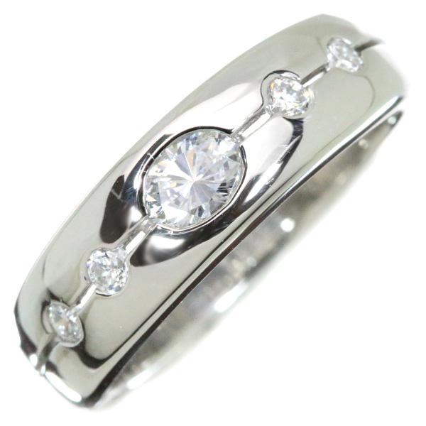 ダイヤモンド リング/指輪 0.28カラット プラチナ900 PT900 引っかかりなし オーバルカットダイヤ /白・透明(ホワイト)/【中古】/届5/1点もの