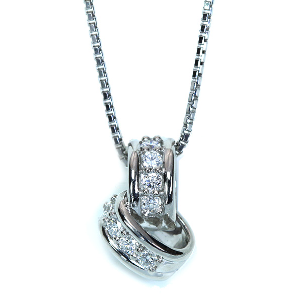 【10%OFFクーポン対象&P2倍】ダイヤモンド ネックレス 0.26カラット プラチナ PT900/PT850 ベビーリングのようなプチネック /白・透明(ホワイト)/アウトレット・新品/届10/1点もの