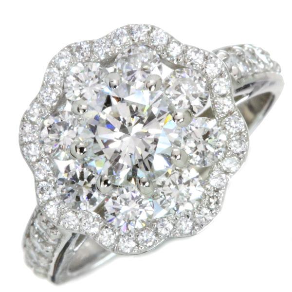 【クーポンで15%OFF&P2倍】ダイヤモンド リング/指輪 1.046カラット プラチナ900 PT900 G SI2 F 憧れの1カラット 豪華貫禄 周囲も1カラット /白・透明(ホワイト)/匠コレクション・新品/届5/