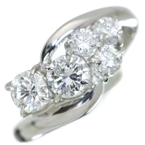 【10%OFFクーポン対象&P2倍】ダイヤモンド リング/指輪 1.0カラット プラチナ900 PT900 1カラット /白・透明(ホワイト)/【中古】/届5/ラックジュエル luckjewel/1点もの