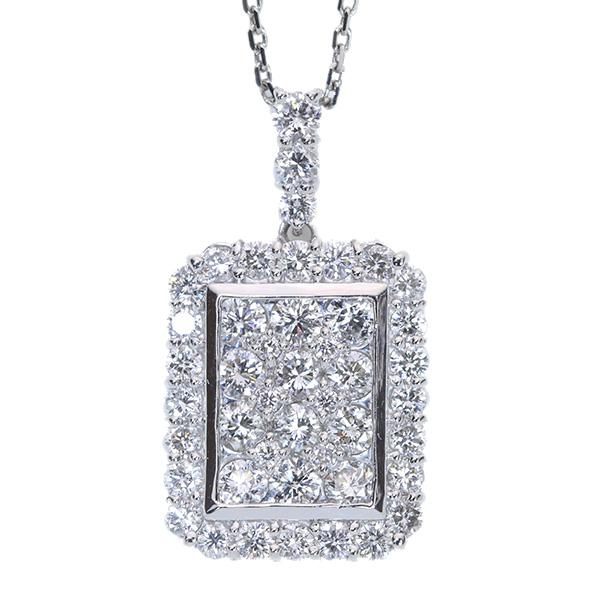 【クーポンで最大30%OFF!】ダイヤモンド ネックレス 2.0カラット プラチナ PT900/PT850 びっしり 無色上質ダイヤ 豪華 2ct 2カラット /白・透明(ホワイト)/アウトレット・新品/届10/ラックジュエル luckjewel/1点もの