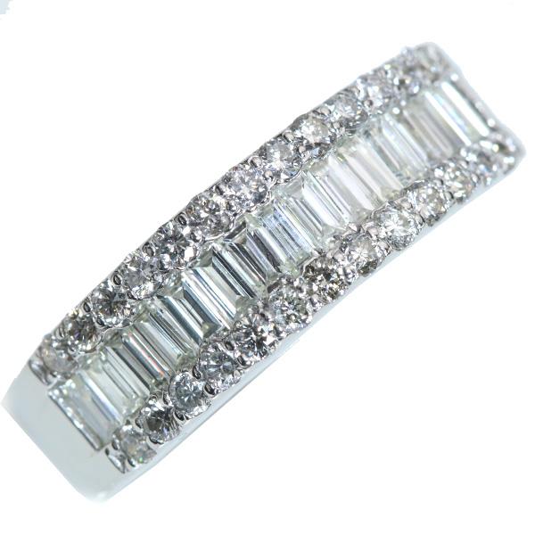 ダイヤモンド リング/指輪 1.0カラット プラチナ900 PT900 ずらり指いっぱいに輝く 憧れ1カラット /白・透明(ホワイト)/アウトレット・新品/届10/ラックジュエル luckjewel/