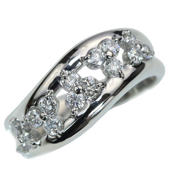 【クーポンで15%OFF&P2倍】ダイヤモンド リング/指輪 0.610カラット プラチナ900 PT900 幅広肉厚 普段使い /白・透明(ホワイト)/アウトレット・新品/届10/ラックジュエル luckjewel/