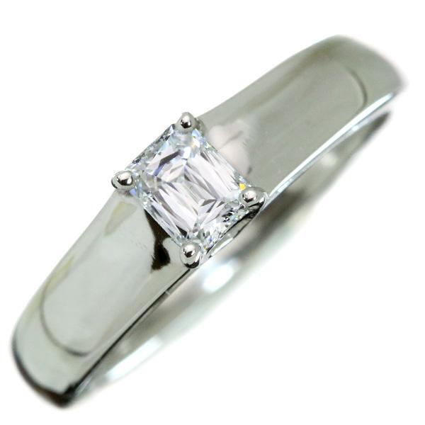 【クーポンで最大30%OFF!】ダイヤモンド リング/指輪 0.30カラット プラチナ950 PT950 ソリティア 角ダイヤ 肉厚 /白・透明(ホワイト)/アウトレット・新品/届10/ラックジュエル luckjewel/1点もの
