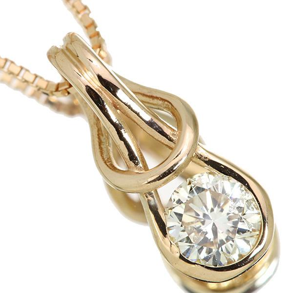 【10%OFFクーポン対象&P2倍】ダイヤモンド ネックレス 0.260カラット 18金ピンクゴールド K18PG 一粒ダイヤ ブランドライクデザイン /白・透明(ホワイト)/アウトレット・新品/届10/ラックジュエル luckjewel/1点もの