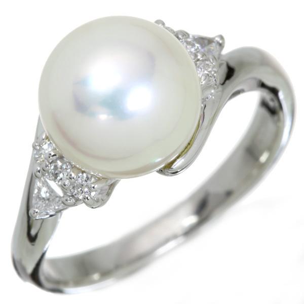 【10%OFFクーポン対象&P2倍】あこや真珠/和珠 リング/指輪 9.2mm プラチナ900 PT900 一粒パール シンプル /白・透明(ホワイト)/アウトレット・新品/届10/ラックジュエル luckjewel/1点もの