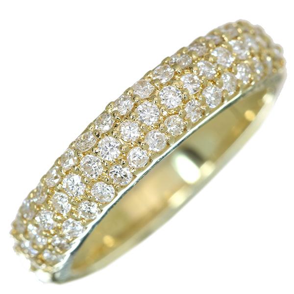 ダイアモンド 4月誕生石 パヴェ 普段使い 限定特価 指輪 送料無料 ダイヤモンド リング 0.50カラット 18金イエローゴールド ラックジュエル ホワイト 中古 透明 K18 SEAL限定商品 luckjewel 届5 白 1点もの