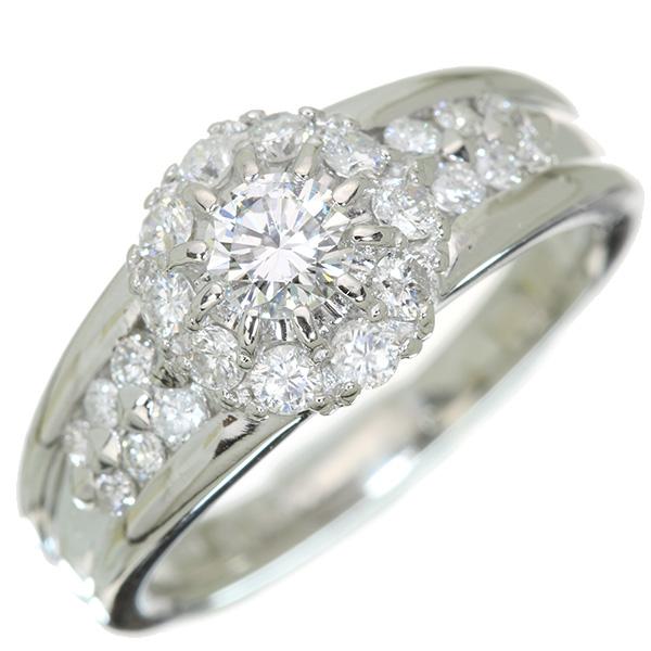 【10%OFFクーポン対象&P2倍】ダイヤモンド リング/指輪 0.263カラット プラチナ900 PT900 ダイヤ尽くし 見事なデコレーション 合計0.723ct /白・透明(ホワイト)/アウトレット・新品/届10/ラックジュエル luckjewel/1点もの