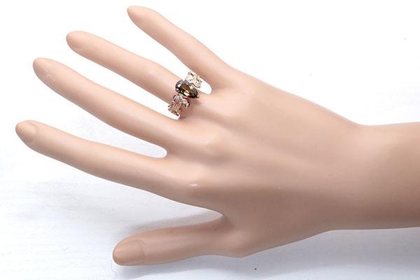 今だけ価格交渉受付中 アンダルサイト アンダリュサイトリング 指輪 2 190カラット 18金ピンクゴールド K18PG 稀少石 豊かな多色性 肉厚アーム セレクトジュエリー・新品 届10 ラックジュエル luckjewel 1点もの5A4jq3RL