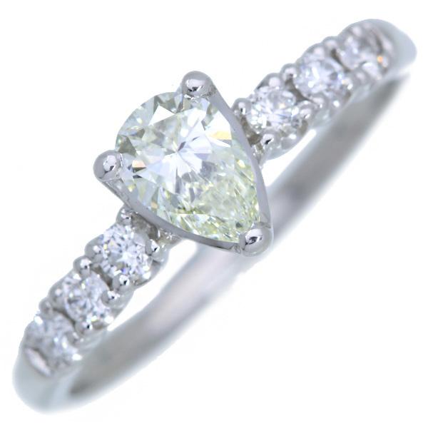 ダイアモンド セットアップ 4月誕生石 リング 指輪 送料無料 ダイヤモンド 0.388カラット プラチナ900 PT900 ペアシェイプカット 一粒ダイヤ 届10 透明 ソリティア アウトレット 男女兼用 ホワイト 白 ラックジュエル luckjewel 新品 1点もの