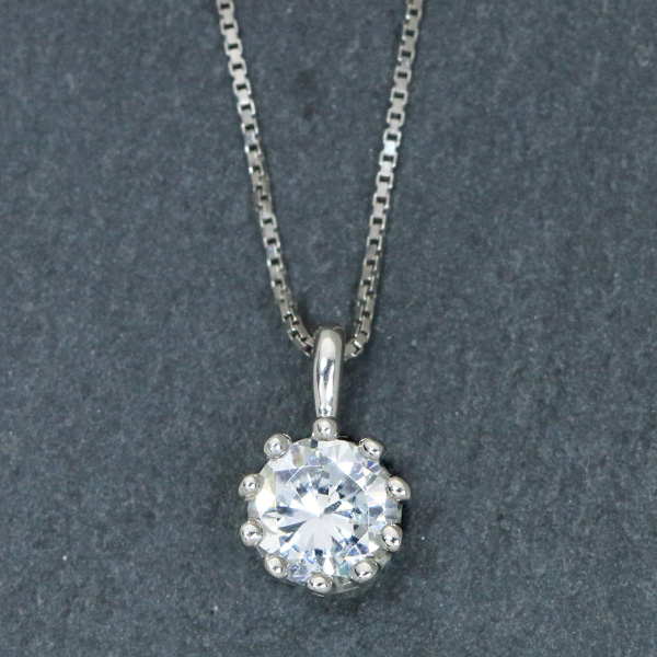 ダイヤモンド(空枠) 0.2~0.5(±0.05ct可)ct用 ペンダントトップ枠 K18 PG WG 18金 PT900 ミルククラウンデザイン ダイヤを包み込む /白・透明(ホワイト)/リフォーム/1年保証/