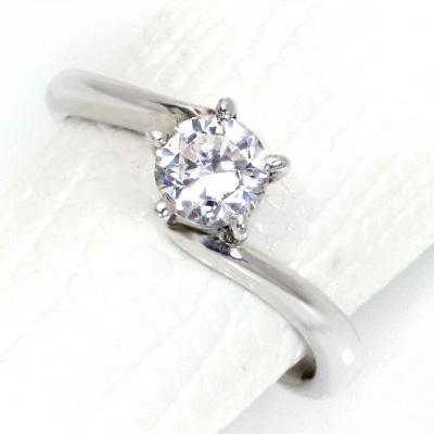 【P2倍】ダイヤモンド(空枠) 0.3 (±0.05ct可)ct用 リング 指輪 枠 K18 PG WG 18金(※プラチナPT追加料金で対応可) 5本爪 星 ひねり リフォーム/1年保証/ラックジュエル luckjewel/