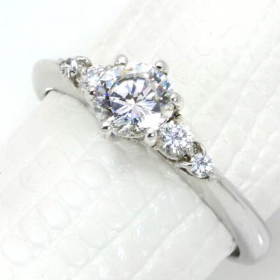 【P2倍】ダイヤモンド(空枠) 0.50 (±0.05ct可)ct用 リング 指輪 枠 K18 PG WG 18金(※プラチナPT追加料金で対応可) 6本爪 脇ダイヤ リフォーム/1年保証/ラックジュエル luckjewel/