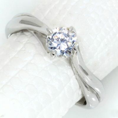 【P2倍】ダイヤモンド(空枠) 0.4~0.5(±0.05ct可)ct用 リング 指輪 枠 K18 PG WG 18金(※プラチナPT追加料金で対応可) 4本爪 肉厚 どっしり リフォーム/1年保証/ラックジュエル luckjewel/