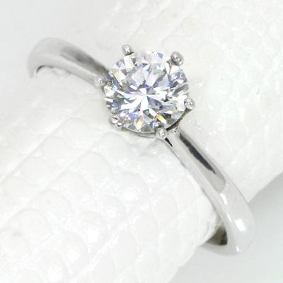 ダイヤモンド(空枠) 0.4~0.5(±0.05ct可)ct用 リング 指輪 枠 K18 PG WG 18金(※プラチナPT追加料金で対応可) ド定番 ティファニー枠 6本爪 リフォーム/1年保証/ラックジュエル luckjewel/