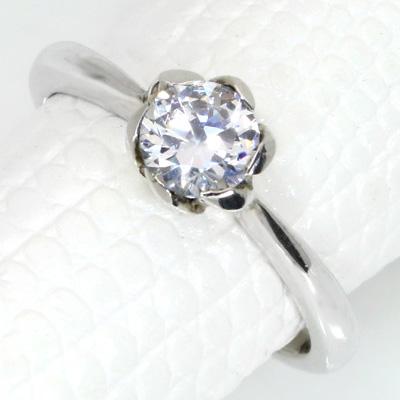 【P2倍】ダイヤモンド(空枠) 0.4~0.5(±0.05ct可)ct用 リング 指輪 枠 K18 PG WG 18金(※プラチナPT追加料金で対応可) 花びらで包み込む リフォーム/1年保証/ラックジュエル luckjewel/
