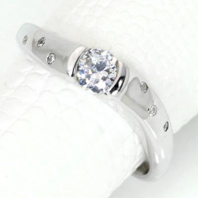【P2倍】ダイヤモンド(空枠) 0.3 (±0.05ct可)ct用 リング 指輪 枠 K18 PG WG 18金(※プラチナPT追加料金で対応可) ひねり 普段使い ひっかかりなし リフォーム/1年保証/ラックジュエル luckjewel/