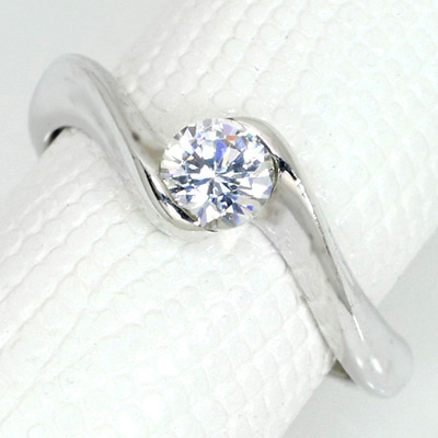 【P2倍】ダイヤモンド 0.3 (±0.05ct可)ct用 リング 指輪 枠 K18 PG WG 18金(※プラチナPT追加料金で対応可) ひねり 肉厚 美麗曲線 リフォーム/1年保証/※クーポン対象外】