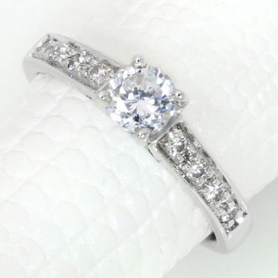 【P2倍】ダイヤモンド(空枠) 0.3~0.4ct用 リング 指輪 枠 K18 PG WG 18金(※プラチナPT追加料金で対応可) 4本爪 華やかダイヤ リフォーム/1年保証/ラックジュエル luckjewel/