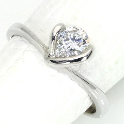 【P2倍】ダイヤモンド(空枠) 0.3 (±0.05ct可)ct用 リング 指輪 枠 K18 PG WG 18金(※プラチナPT追加料金で対応可) フラワーのよう シンプル ひっかかりなし リフォーム/1年保証/※クーポン対象外】